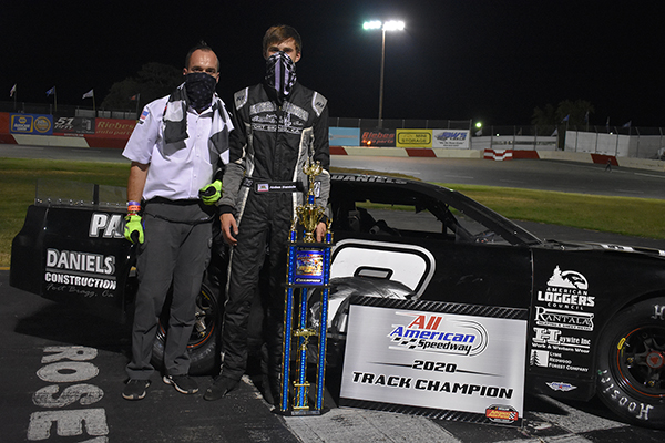 Jr. Late Model champion Aidan Daniels